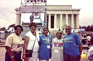 50th Anniversary of March On Washington participants