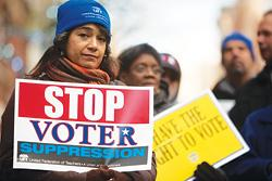 Voter Suppression Rally, NY