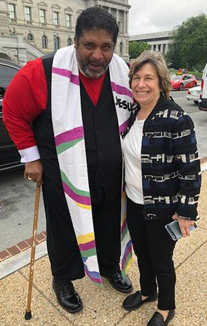 Randi & Rev. Barber at Poor People's Campaign rally