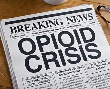 Opioid crisis newspaper headline