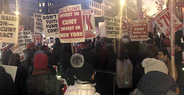 PSC-CUNY protest