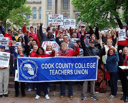 teachers rally from cook country college