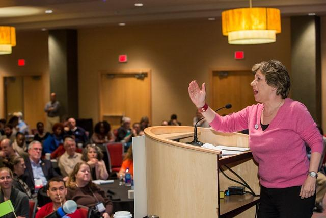 Randi Weingarten at higher ed conference