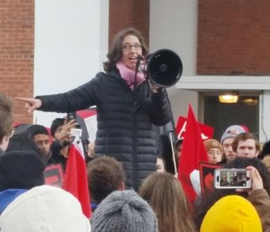 Mary Cathryn Ricker at the rally