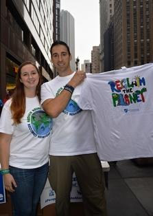 Brian and Lexi Bisson with Reclaim t-shirt