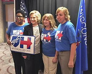 Hillary Clinton with Wisconsin members
