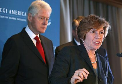 Randi Weingarten and Bill Clinton