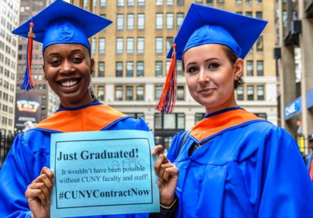 CUNY graduates supporting PSC