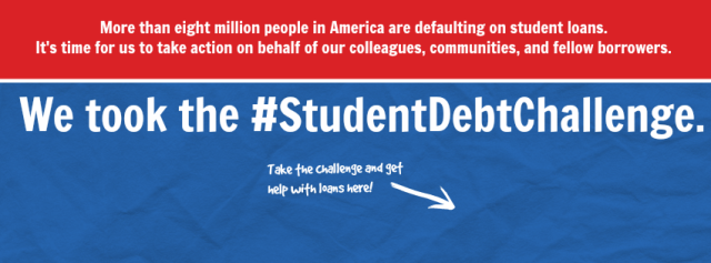 Student debt challenge graphic