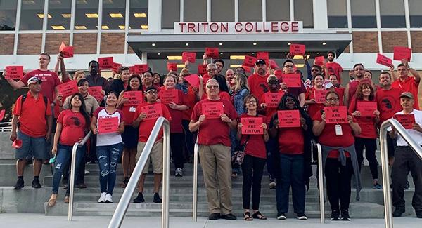 triton college staff on strike