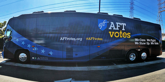 AFT Votes bus