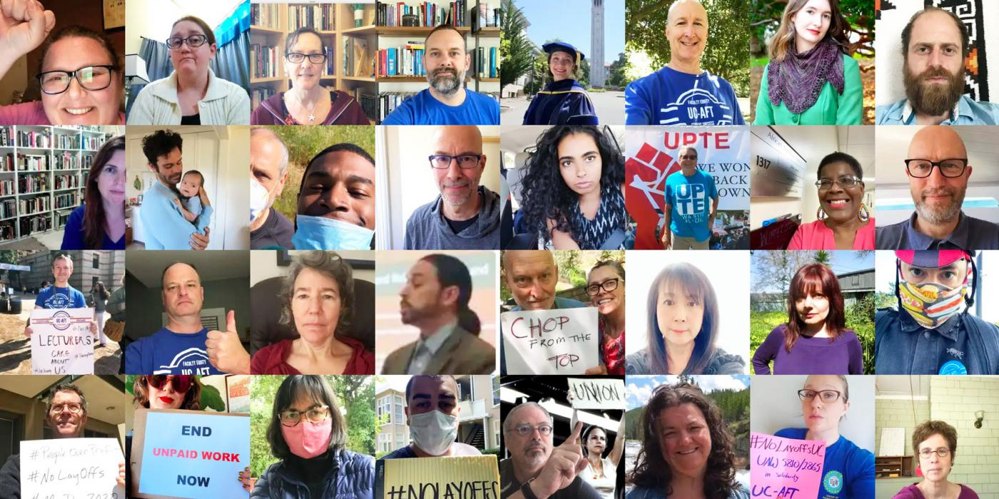 the faces of university of california aft members