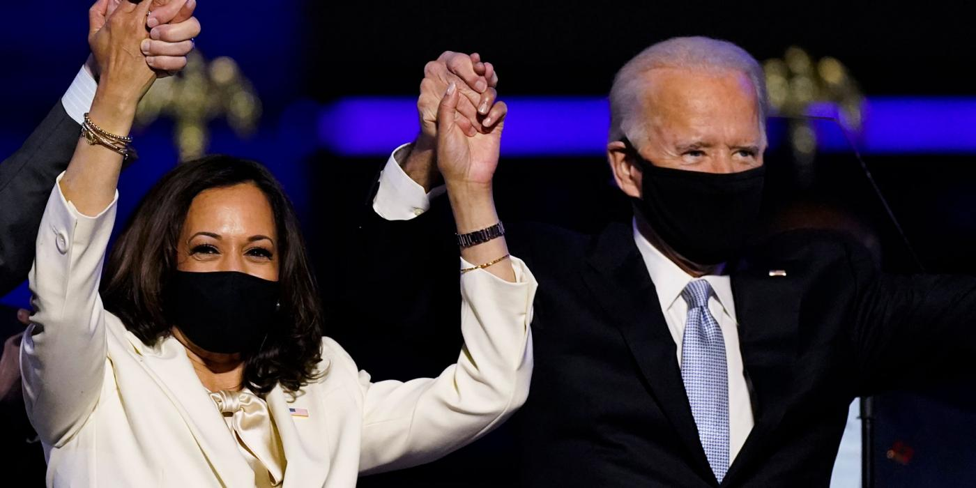 Joe Biden & Kamala Harris celebrate the win