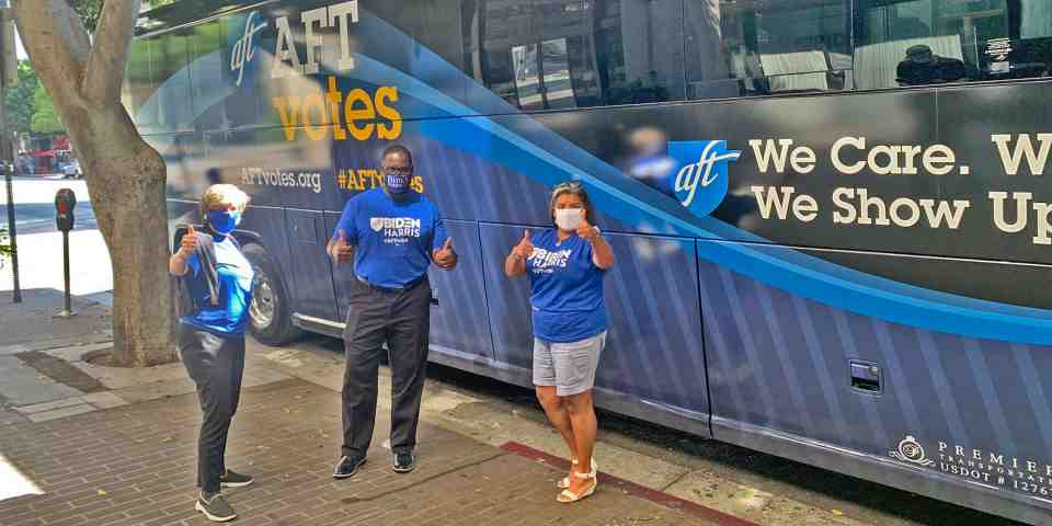 AFT Votes bus tour