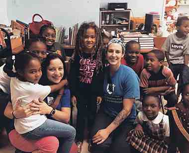 nurses with kids in U.S. Virgin Islands