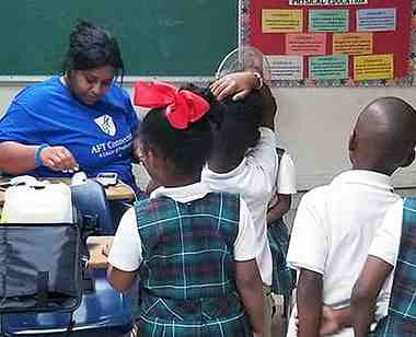 aft volunteer helps children in the virgin islands