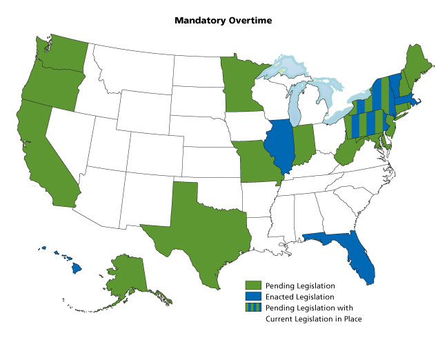 mandatory overtime nursing The law regarding mandatory overtime in california on behalf of law offices of lauren abrams posted in employee rights on wednesday, december 2, 2015 doctors, nurses and other health care workers in california may sometimes be required to work overtime so that patients can receive urgently needed care during staff shortages or some sort of.
